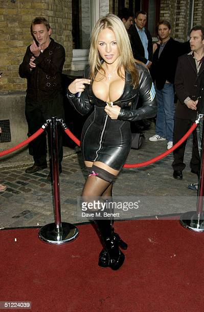 Model Holly Maguire arrives at the 11th annual Kerrang Awards 2004 at The Brewery East London on August 26 2004 in London The music awards hosted by...