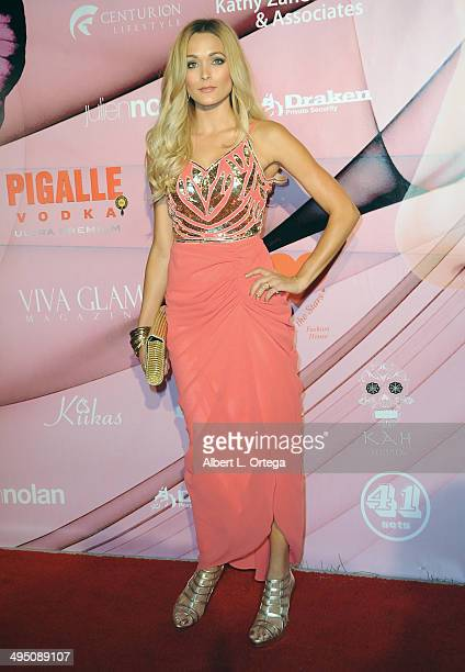Model Holly Wolf arrives for Society Unici And Viva Glam Magazine Present Rose held at Society Unici on May 31 2014 in Culver City California