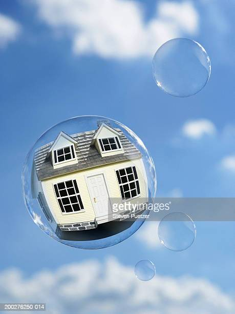 Model home in floating bubble