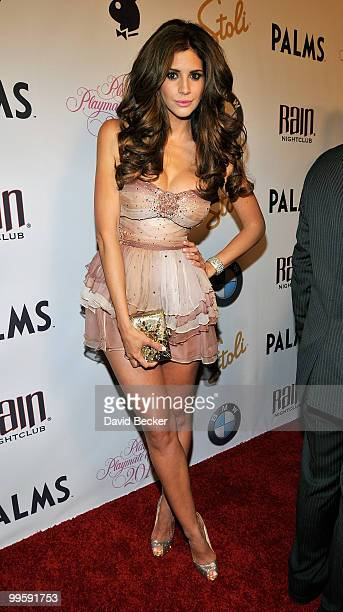 Model Hope Dworaczyk arrives at a party introducing her as the 2010 Playboy Playmate of the Year at The Palms Casino Resort on May 15 2010 in Las...
