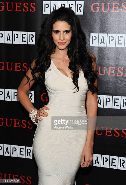 Model Hope Dworaczyk arrives at the 2011 Beautiful People Party hosted by Paper Magazine and Guess at The Standard Hotel on March 29 2011 in Los...