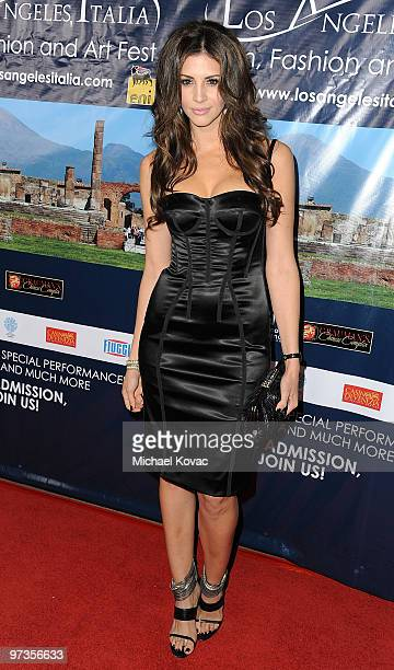 Model Hope Dworaczyk attends the Los Angeles Italia Film, Fashion & Art Festival at the Mann Chinese 6 on March 1, 2010 in Los Angeles, California.