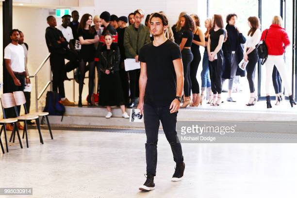 A model hopeful parades down the catwalk during the David Jones Spring Summer 18 Collections Launch Model Castings on July 10 2018 in Melbourne...
