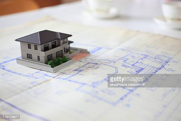 Model House and Blueprint