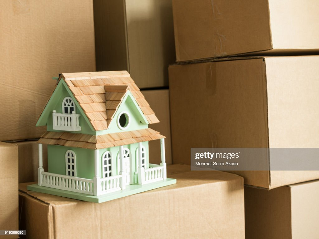 Model House And Cardboard Boxes High Res Stock Photo Getty