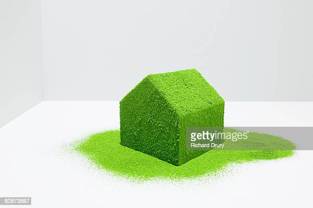 model house covered with greenery - richard drury stock pictures, royalty-free photos & images