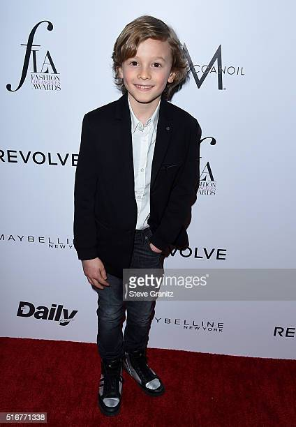 Model Hudson Kroenig attends the Daily Front Row Fashion Los Angeles Awards at Sunset Tower Hotel on March 20 2016 in West Hollywood California