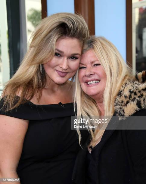 Model Hunter McGrady and mother Brynja McGrady visit Hollywood Today Live at W Hollywood on March 3 2017 in Hollywood California
