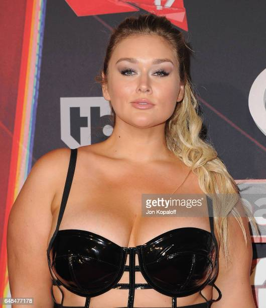 Model Hunter McGrady arrives at the 2017 iHeartRadio Music Awards at The Forum on March 5 2017 in Inglewood California
