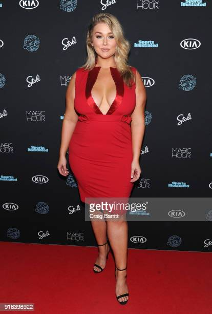 Model Hunter McGrady attends Sports Illustrated Swimsuit 2018 Launch Event at Magic Hour at Moxy Times Square on February 14 2018 in New York City