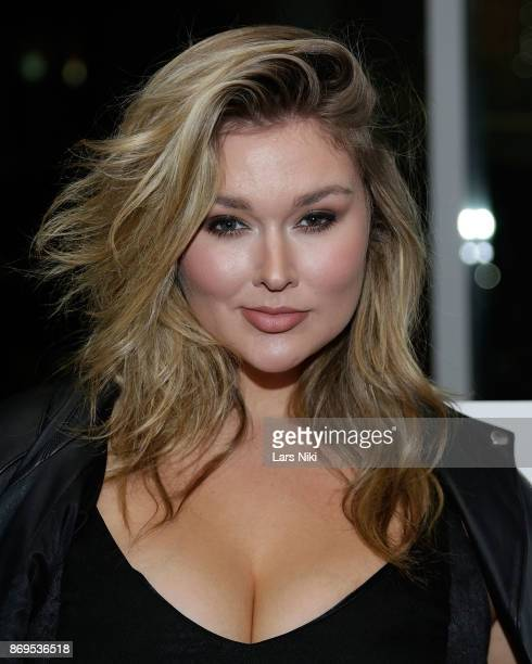 Model Hunter McGrady attends the SI Swimsuit 2018 Model Search celebration and preview of the Sports Illustrated Swim and Active Collection at Mr...