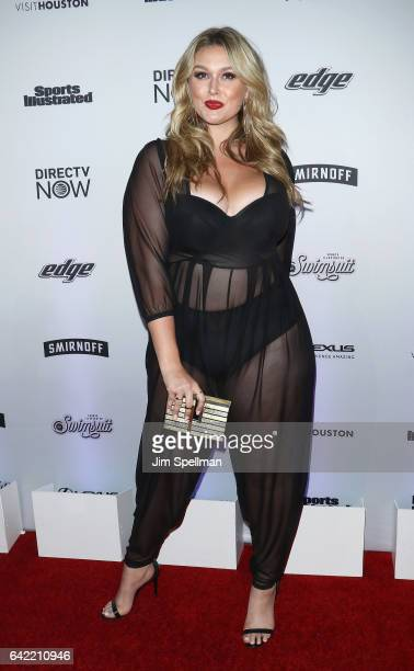 Model Hunter McGrady attends the Sports Illustrated Swimsuit 2017 launch event at Center415 Event Space on February 16 2017 in New York City