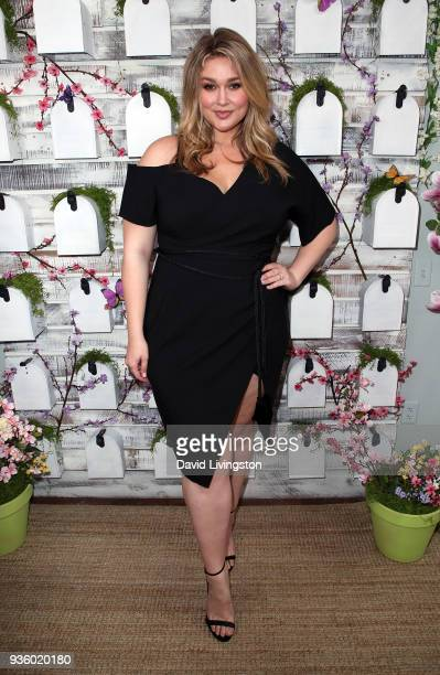 Model Hunter McGrady visits Hallmark's Home Family at Universal Studios Hollywood on March 21 2018 in Universal City California