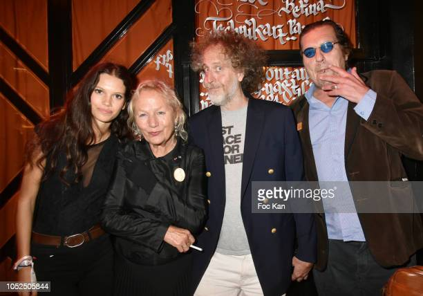Model Ilana Hansen Agnes B Fabrice de Rohan Chabot and Cyril Putman attend The Technikart Magazine Arty Party at le Montana Club on October 18 2018...