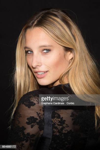 Model Ilona Smet attends the Lanvin show as part of the Paris Fashion Week Womenswear Spring/Summer 2018 at on September 27 2017 in Paris France