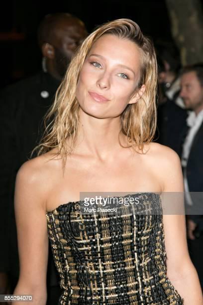 Model Ilona Smet attends the 'L'Oreal Paris X Balmain' party on September 28 2017 in Paris France