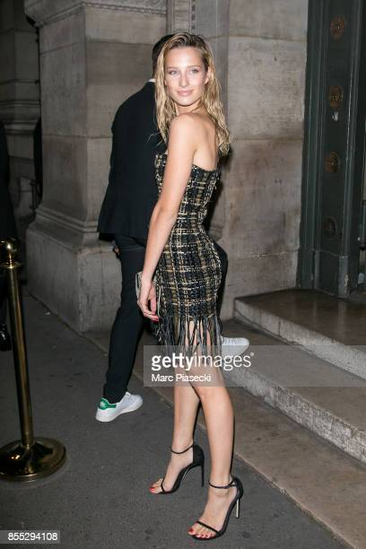 Model Ilona Smet attends the 'L'Oreal Paris X Balmain' party on September 28 2017 in Paris France