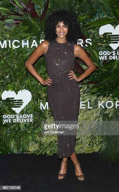 Model Imaan Hammam attends the 11th Annual God's Love We Deliver Golden Heart Awards at Spring Studios on October 16 2017 in New York City