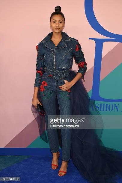 Model Imaan Hammam attends the 2017 CFDA Fashion Awards at Hammerstein Ballroom on June 5 2017 in New York City