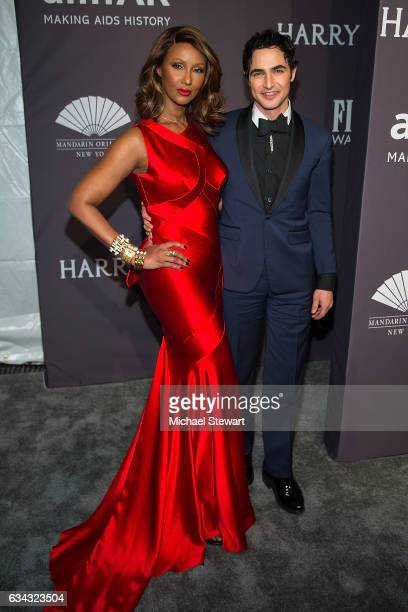Model Iman and designer Zac Posen attend the 19th Annual amfAR New York Gala at Cipriani Wall Street on February 8 2017 in New York City