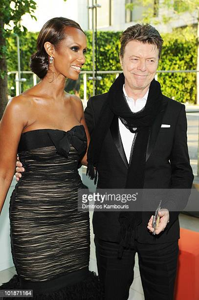 Model Iman and musician David Bowie attend the 2010 CFDA Fashion Awards at Alice Tully Hall Lincoln Center on June 7 2010 in New York City