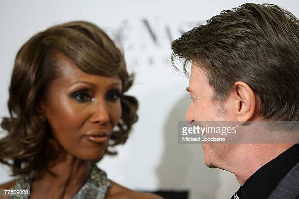 Model Iman and musician David Bowie attends 4th Annual Black Ball Concert For Keep A Child Alive at the Hammerstein Ballroom on October 25 2007 in...