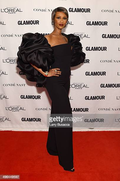 Model Iman attends 2015 Glamour Women Of The Year Awards at Carnegie Hall on November 9 2015 in New York City