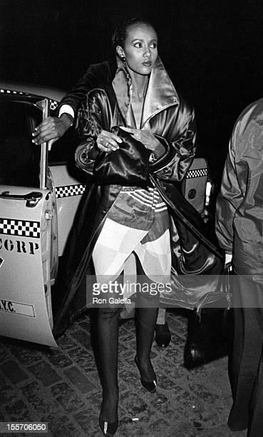 Model Iman attends 90th Birthday Party for Erte on November 9 1982 at the Green Street Restaurant in New York City