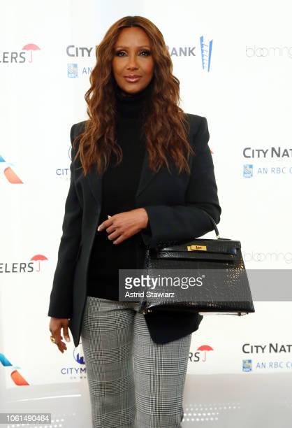 Model Iman attends Citymeals' 32nd power lunch for women at The Rainbow Room on November 14 2018 in New York City