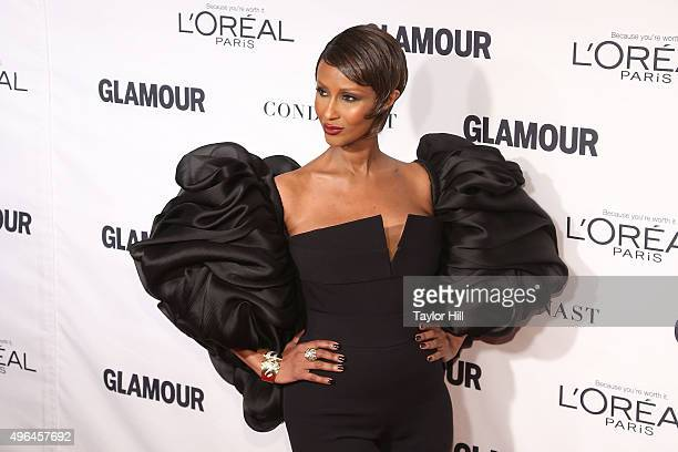 Model Iman attends Glamour's 25th Anniversary Women Of The Year Awards at Carnegie Hall on November 9 2015 in New York City