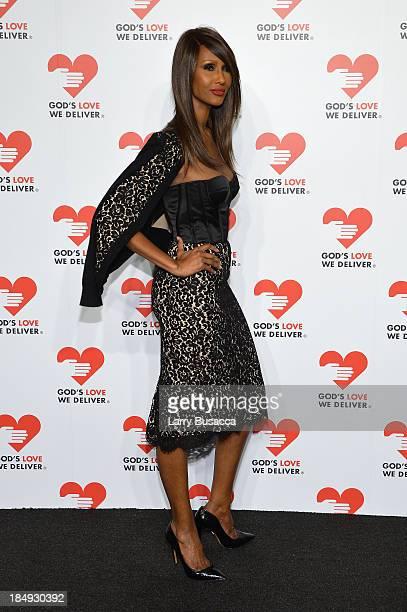Model Iman attends God's Love We Deliver 2013 Golden Heart Awards Celebration at Spring Studios on October 16 2013 in New York City