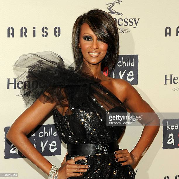 Model Iman attends Keep A Child Alive�s 6th Annual Black Ball at Hammerstein Ballroom on October 15 2009 in New York City