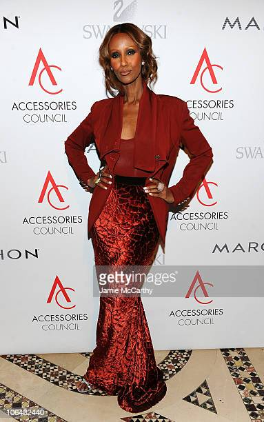 Model Iman attends the 14th Annual ACE Awards presented by the Accessories Council at Cipriani 42nd Street on November 1 2010 in New York City