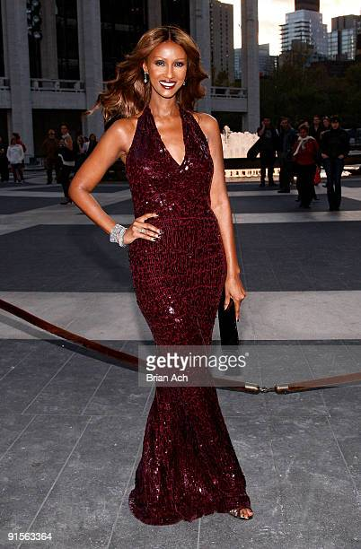 Model Iman attends the 2009 American Ballet Theatre Fall Gala at Avery Fisher Hall Lincoln Center on October 7 2009 in New York City