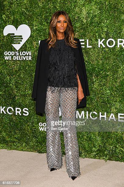 Model Iman attends the 2016 God's Love We Deliver Golden Heart Awards Dinner at Spring Studios on October 17 2016 in New York City