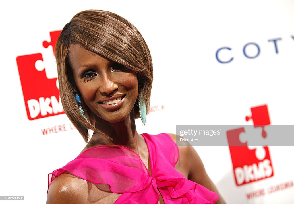 Model Iman attends the 5th annual DKMS Gala at Cipriani Wall Street on April 28, 2011 in New York City.