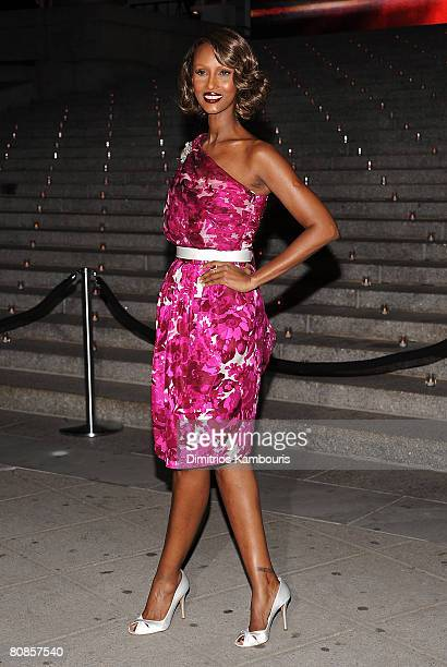 Model Iman attends the 7th Annual Tribeca Film Festival Vanity Fair Party at the State Supreme Courthouse on April 22 2008 in New York City