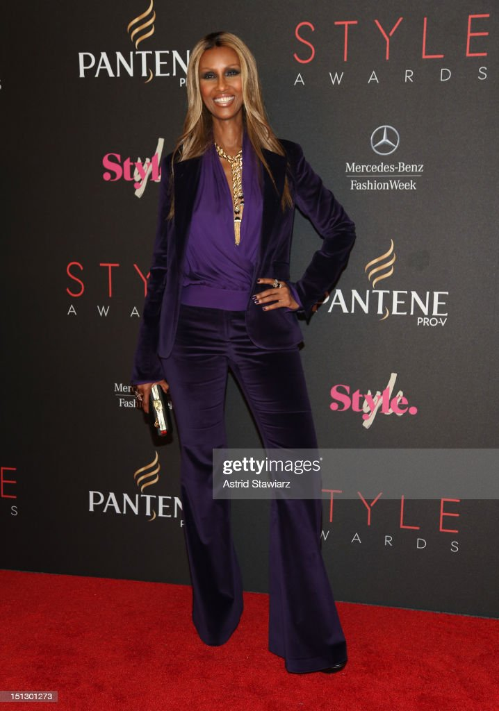Model Iman attends the 9th annual Style Awards during Mercedes-Benz Fashion Week at The Stage at Lincoln Center on September 5, 2012 in New York City.