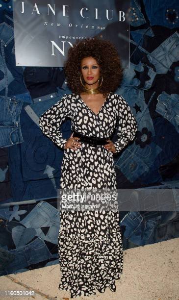 Model Iman attends The Jane Club private dinner at Melrose Mansion on July 06 2019 in New Orleans Louisiana