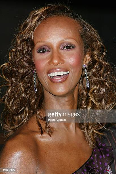 Model Iman attends the Vanity Fair 2003 Tribeca Film Festival launch party at The State Supreme Courthouse May 1 2003 in New York City