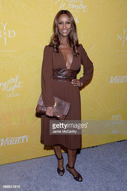 Model Iman attends Variety Power Of Women New York presented by FYI at Cipriani 42nd Street on April 25 2014 in New York City