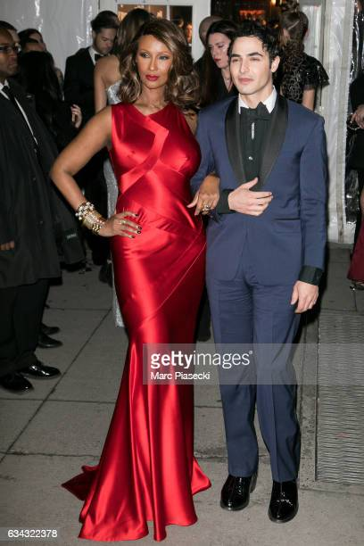 Model Iman Bowie and designer Zac Posen attend the 19th Annual amfAR New York Gala at Cipriani Wall Street on February 8 2017 in New York City