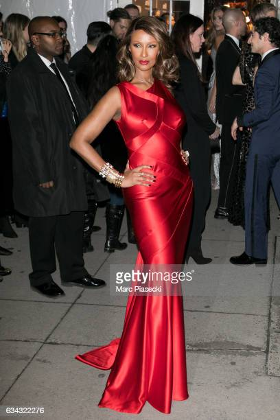 Model Iman Bowie attends the 19th Annual amfAR New York Gala at Cipriani Wall Street on February 8 2017 in New York City