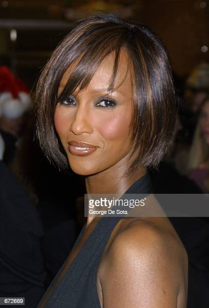Model Iman makes an in store appearance to sign copies of her new book I Am Iman at Henri Bendel November 20 2001 in New York City