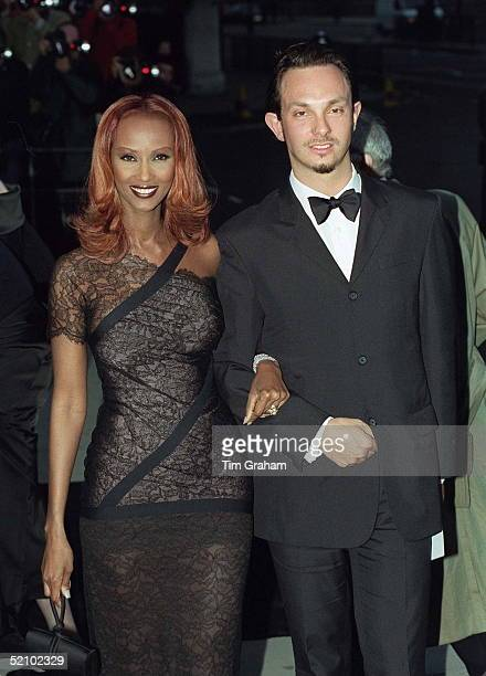 Model Iman {mrs David Bowie] At The Tate Gallery For A Gala To Celebrate The Tate's 100th Birthday