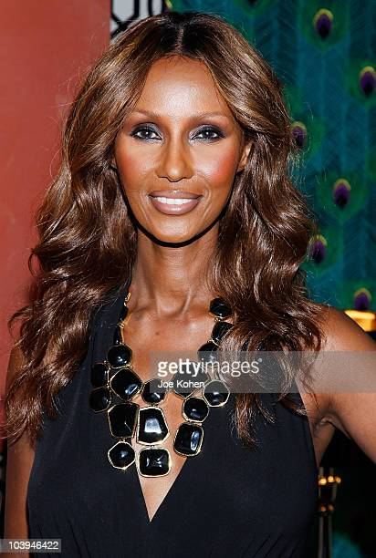 Model Iman unveils the MercedesBenz Star Lounge at Lincoln Center on September 9 2010 in New York City