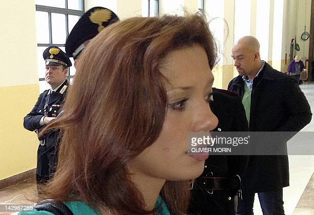 Model Imane Fadil arrives at Milan's court during the trial of the expremier Silvio Berlusconi for allegedly having sex with an underage prostitute...