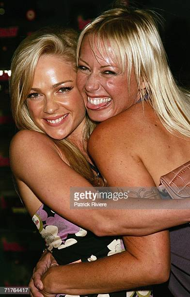 Model Imogen Bailey and White Witch Fiona Horne arrive at the inaugural Dolly Teen Choice Awards at Luna Park on August 31 2006 in Sydney Australia...
