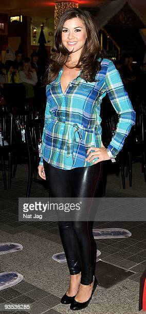 Model Imogen Thomas attends the opening of the new Ed Hardy store at Westfield on December 1, 2009 in London, England.