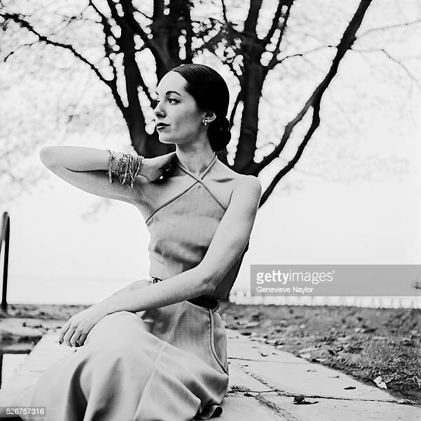 Model in a Halter Dress by Katja of Sweden